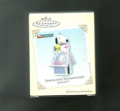 Hallmark Keepsake Easter Ornament Dated 2005 NIB Springtime Inspirations Snoopy