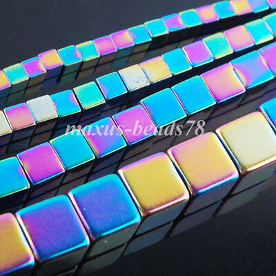 Motley Hematite Square 2 3 4 6MM Non Magnetic Loose Beads Making Jewelry MBL328