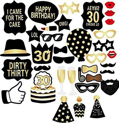 30. Geburtstag Party Photo Booth Props Geburtstag Feier Photobooth Prop DIY Kit