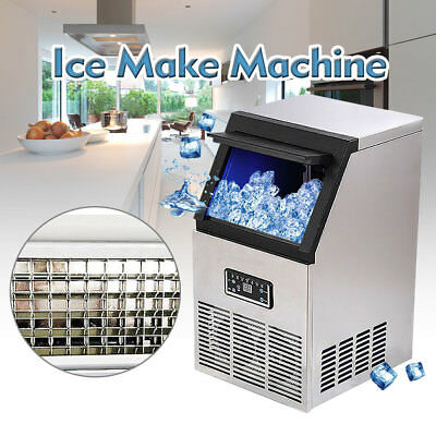 Auto Commercial Ice Maker Cube Machine 110LB 110V 230W for Restaurant & Catering