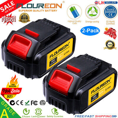 2x 18V 5Ah Li-ion Battery for DEWALT DCB184 DCB182 DCB200 DCB180 XR COMBI Slide