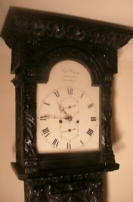 "Antique Superb Carved Oak  8 Day  "" Newport ""  Longcase / Grandfather  Clock"