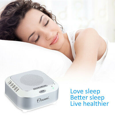 Baby Adult Soother Sleep Aid White Noise Machine Sleep Trainer Timer 4 Sounds