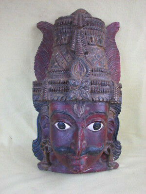 old wooden mask from a statue 18 inch Ceylon Sri Lanka