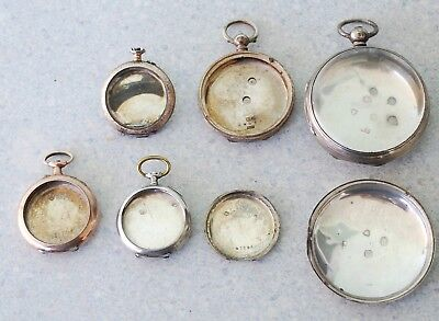 Lot Of Sterling Silver Pocket Watch Cases For Scrap Or Repair 86.6 Grams