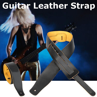 Adjustable Soft cowhide Genuine Leather Strap For Acoustic Electric Guitar Bass