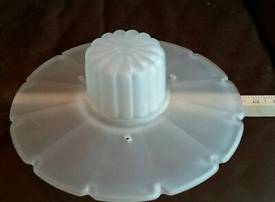 vintage ceiling light shade antique frosted clear glass 3 chain holes