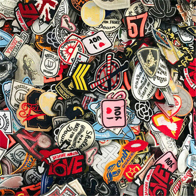 Sew On Iron On mix Embroidery Cloth Stickers Patches Chapter Decorative Stickers