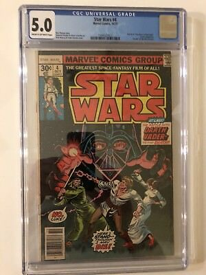 Star Wars #4 CGC 5.0 1977 A New Hope Part 4