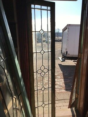 SG 2110 antique all beveled glass transom window 16.5 x 78.5