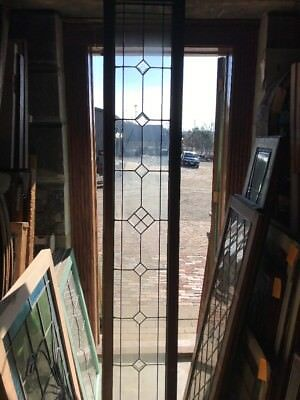 SG 2111 antique beveled and leaded transom window 16.25 x 92.5