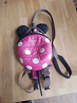 Little Life Backpack, with Safety Reins, Minnie Mouse.