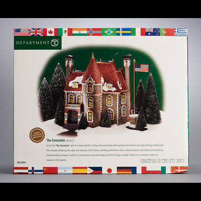 """Dept 56 Christmas in the City Series """"The Consulate"""" #56.58951 - MIB"""