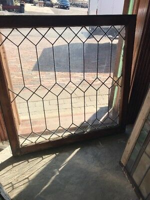 Sg 2124 Antique Leaded Glass Window 36 X 36