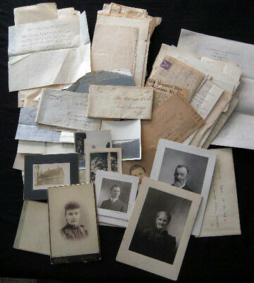 1810 - 1940s COLLECTION PLUMSTEAD CLARK NUTTER FAMILIES MAINE GENEALOGY ARCHIVE