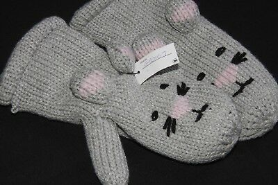 Adorable Warm Winter Children Mitten Gloves with Mouse Face and Ears S(334)