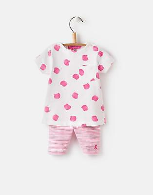 Joules 124750 Baby Girls Screen Print Set with Half Length Leggings in Shells