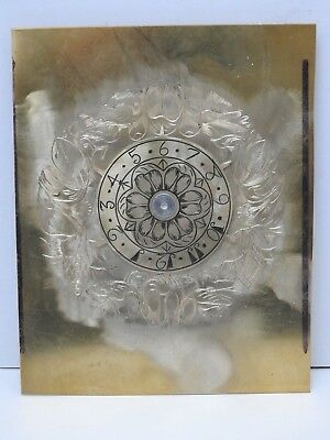 Reproduction lantern clock hand engraved front dial and alarm disc