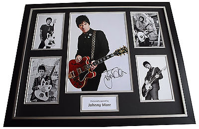 Johnny Marr SIGNED Framed Photo Autograph Huge display Smiths Music AFTAL COA