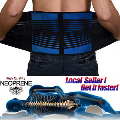 Lumbar Lower Back Support Belt Brace Pain Relief Gym Training Weight Lifting FC