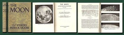 THE MOON-WIlkins & Moore-Scarce Lunar Map/Guide/ASTRONOMY/HB/DJ/Ill/VG/Free Ship
