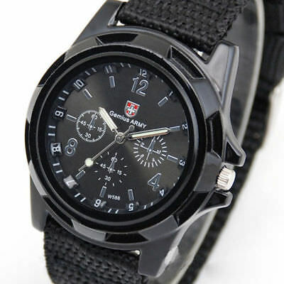 INFANTRY INFILTRATOR Mens Wrist Watch Analog Army Sport BLACK