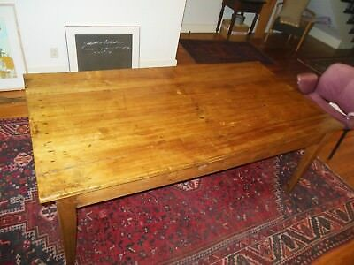 Lovely Antique 1880-1910  French Country Farm Table 71 1/2 x 36 1/2 x 28 1/2