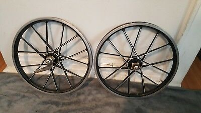 102ab96a129 Old School Bmx Schwinn Mag Wheel Set By Lester Coaster Brake 20