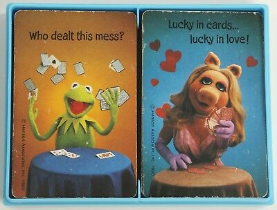 Jim Henson Muppets Miss Piggy Kermit Frog Hallmark 1980 Playing Cards 2 Decks