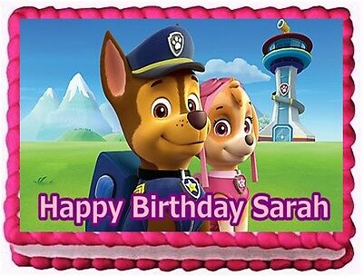 Paw Patrol Edible Cake Topper Birthday Decorations 1275 Picclick