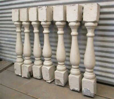 7 Balusters Tan Wood Architectural Salvage Spindles Porch Post House Trim e