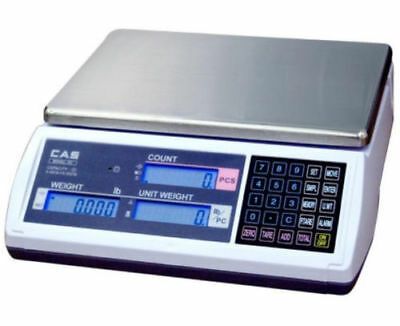Cas EC-15 Series Precision Counting Scale Stain Steel Platter 15 LB , 0.0005lb