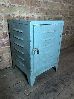 Vintage retro industrial shabby chic metal bathroom kitchen cabinet