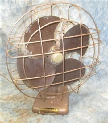 Kenmore Electric Table Fan 3 Speed Mid Century 12 Metal Blades Vintage Working!