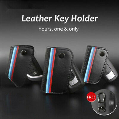 Geniue Leather Car Key Case Cover Protector For BMW E90 E60 F10 3 5 7 Series TS