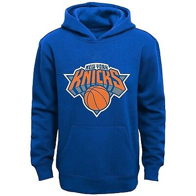 Youth X-Large Team Color 16-18 NBA New York Knicks Boys  Outerstuff Primary Logo Classic Hoodie