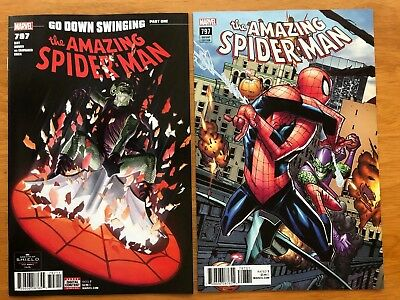 Amazing Spider-Man 797 1st Print + Ramos Connecting Variant Red Green Goblin NM