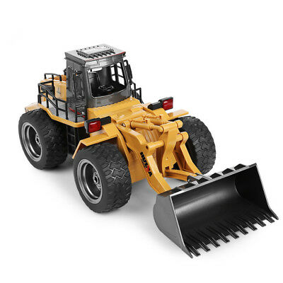 RC Bulldozer Car 6CH 1/14 Metal Charging RTR Remote Control Kids Truck Toy