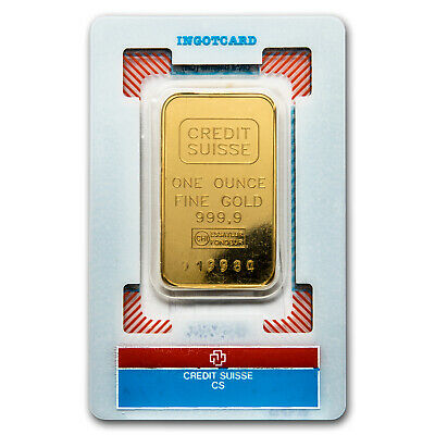 1 oz Gold Bar - Credit Suisse (Vintage Assay) - SKU#166509