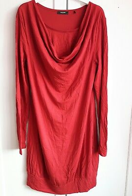 Umstands-/Stillkleid Noppies Gr. L rot Wasserfallkragen Shirtkleid