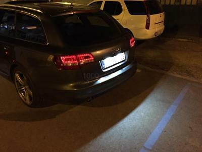 2x LED NUMBER PLATE LIGHTS AUDI A4  B6 B7 CANBUS