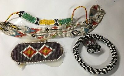 NICE LOT OF VINTAGE BEADED INDIAN  JEWELRY SOME GOOD TO WEAR other need repair