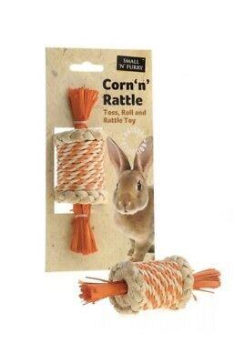 Small N Furry Corn Rattle Rabbit Guinea Pig Toy