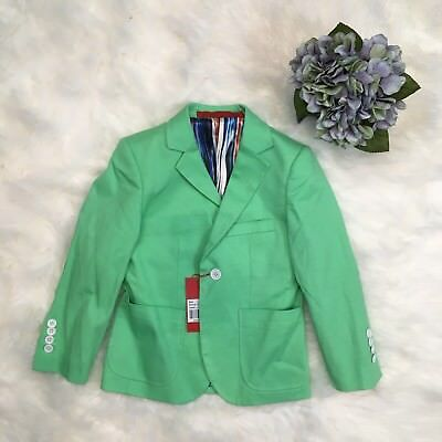 ELIE balleh Milano Green Easter Wedding ring boys suit blazer jacket 6/7 T (e)