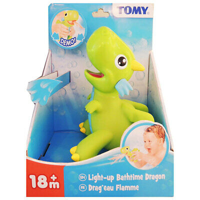 Tomy Splash Light Up Green Dragon Bath Time/Shower/Tub Toy/Fun for Toddler/Kids