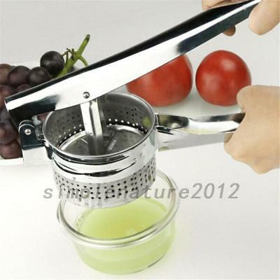 Potato Masher Ricer Puree Fruit Vegetable Juicer Press Maker Garlic Mill