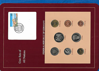 Coin sets of all nations Germany 1986-1988 UNC 2,5 Mark 1988 1 Mark 1986