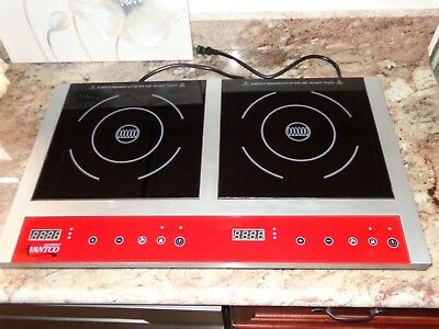 Avantco IC18DB Double Countertop Induction Range/Cooker 120V  1800W