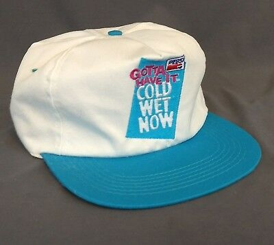 Vintage Pepsi Snapback Hat Gotta Have it Cold Wet Now Embroidered Logo White