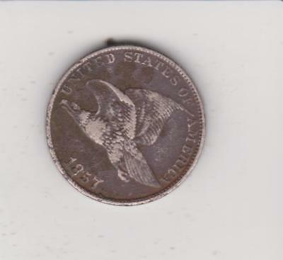 1857 FIRST YEAR ISSUE flying eagle  PENNY  VERY NICE DETAIL FREE SHIPPING